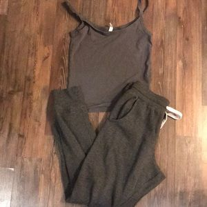 Jogging pants and tank